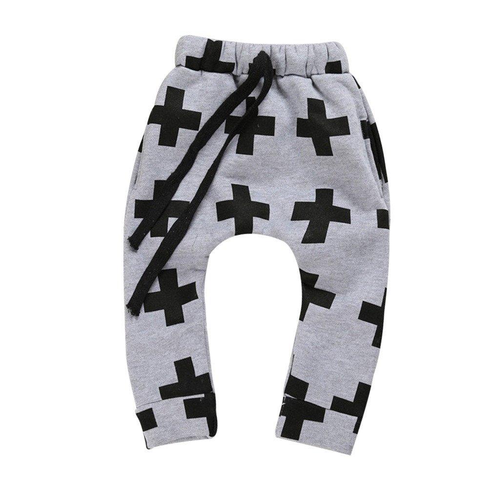 Zerototens Children's Trousers Boys Harem Cross Pant Children's Star Cotton Clothing Full Pencil Pants Unisex Baby Pants kids cotton underwear pants