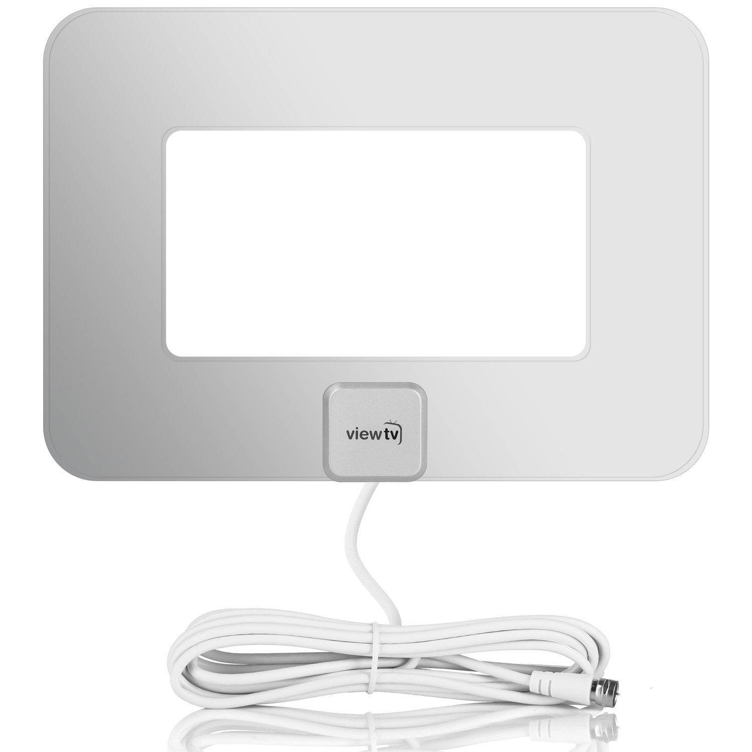 ViewTV VT-9047YE 80 Mile Range Flat Amplified HD Digital TV Antenna Silver