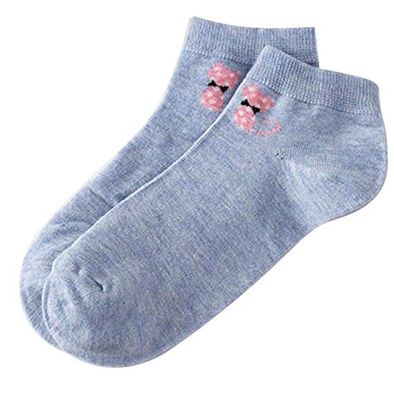 SHOBDW Mujeres Unisex Básico Sólido Casual Cat Print Mantener Calientes Calcetines de Algodón Térmico Calcetines de Skate Calcetines Cómodos Calcetines ...