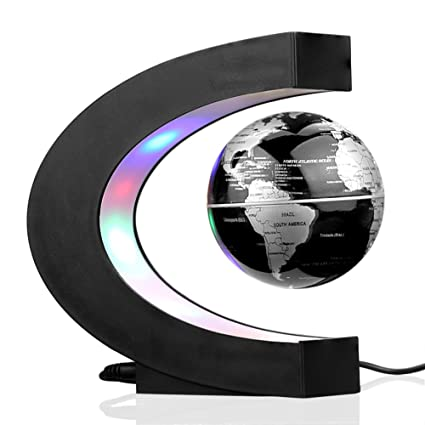 Buy sienoc magnetic levitation floating world map globe with led sienoc magnetic levitation floating world map globe with led lights for learning education teaching demo home gumiabroncs