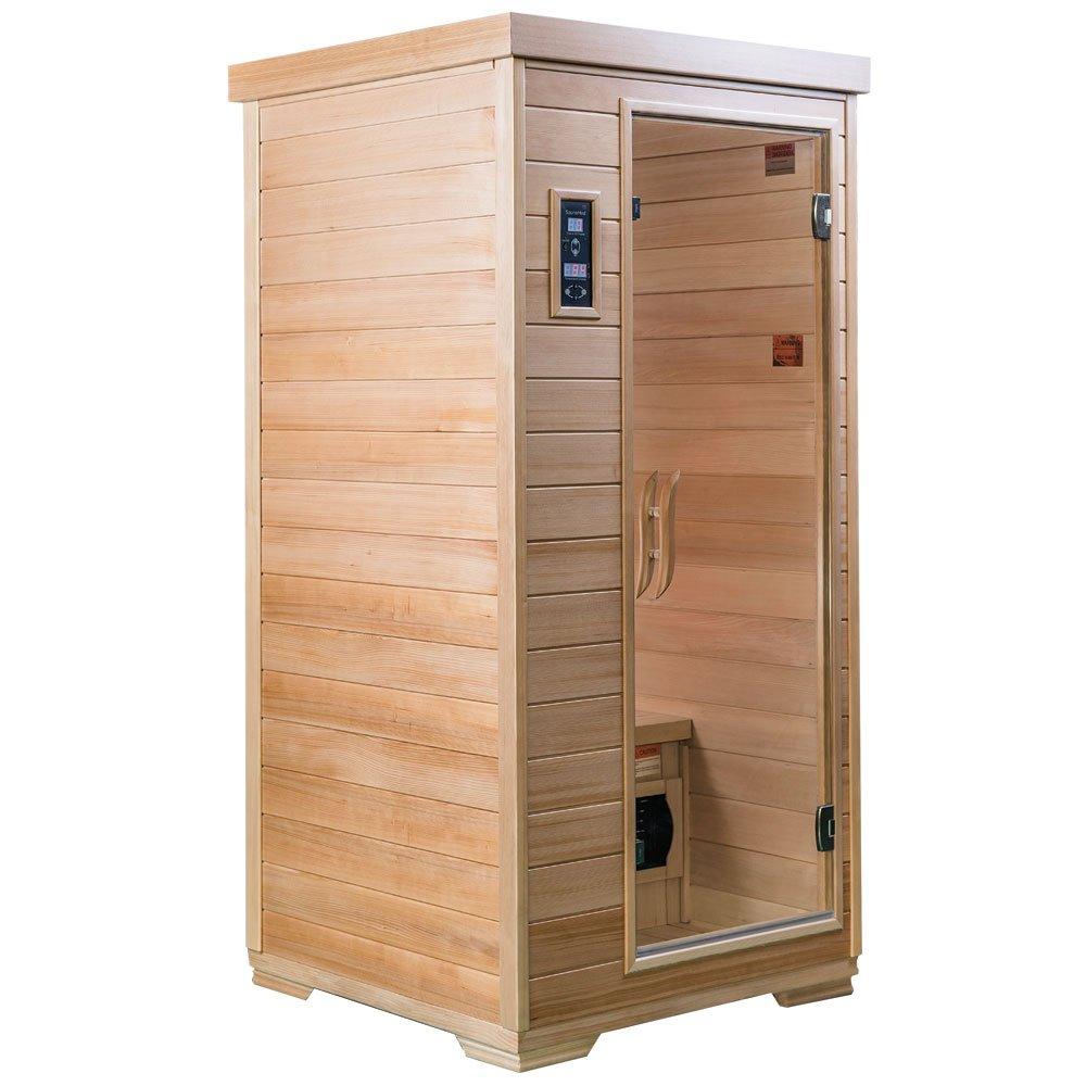 sauna a infrarossi FAR in cicuta marchio NeutralTM risonanza elettromagnetica con tecnologia EMR per 1 persona lussuosa SaunaMed