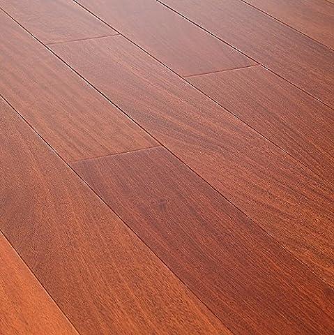 AMERIQUE AMESM7 Prefinished Engineered Santos Mahogany Natural Hardwood Flooring with 2 mm Top Layer Single Plank (One - Santos Mahogany Hardwood Flooring