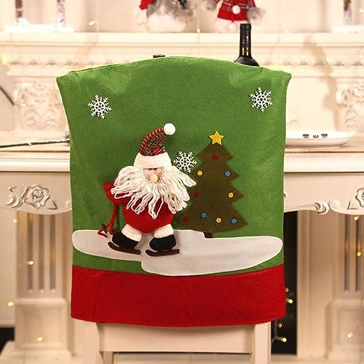 QISLOVE Decoraciones navideñas Nuevo Juego de sillas de Navidad ...