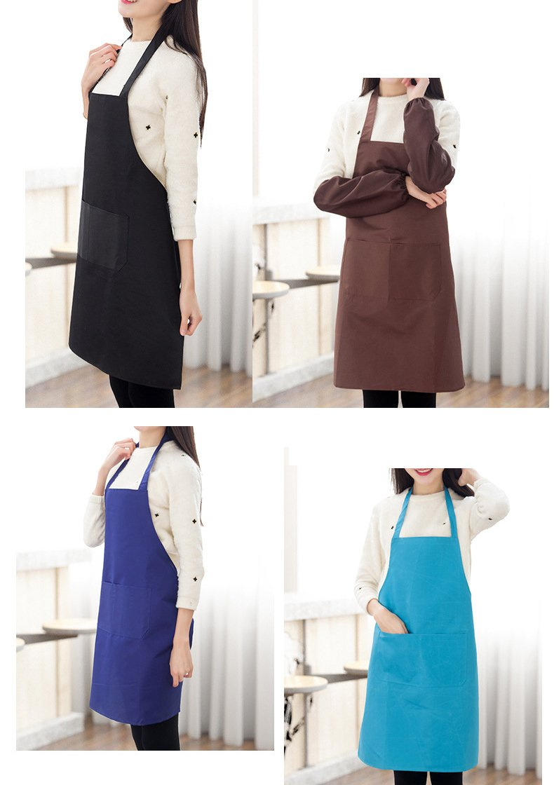TSD STORY Total 12 PCS Plain Color Bib Apron Adult with 2 Front Pocket by TSD STORY (Image #7)