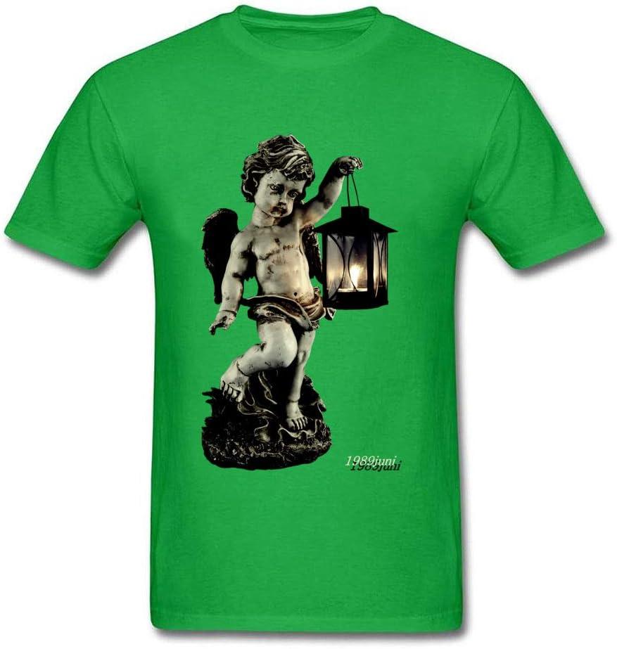 SeedWorld Camisetas – Ángel Farol Soporte 2018 Moda Hombres Gris Camisa Retro Vintage Estatua Pintura Lovely algodón Playera 1 Pieza: Amazon.es: Hogar