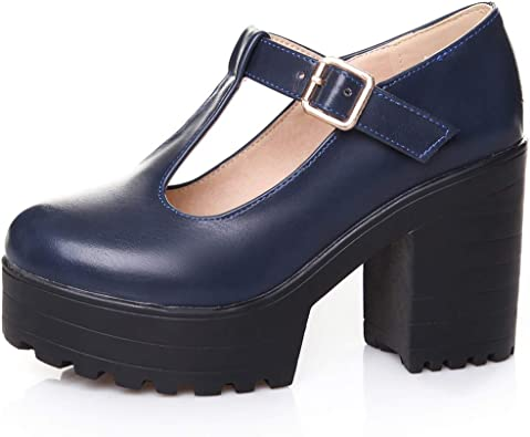 WOMENS VEGAN LEATHER PLATFORM CHUNKY HEEL SOLE ANKLE SHOES BOOTS TRAINERS PUMPS