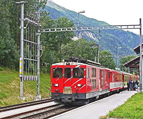 Home Comforts Peel-n-Stick Poster of Regional Train Matterhorn-gotthard-Bahn -