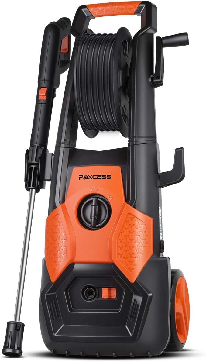 PAXCESS Electric Pressure Washer 2150 PSI 1.85 GPM High Pressure Power Washer Machine with All-in-One Nozzle, Hose Reel, Detergent Tank Best for Cleaning Car Vehicle Floor Wall Furniture Outdoor