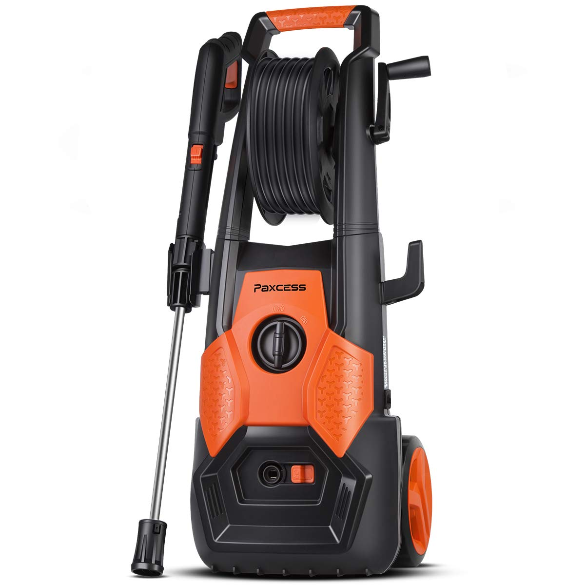 PAXCESS Electric Pressure Washer, 2150 PSI 1.85 GPM Electric Power Washer with Spray Gun, Adjustable Nozzle,26ft High Pressure Hose, Hose Reel (Power Wash Machine, Pressure Cleaner, Car Washer)
