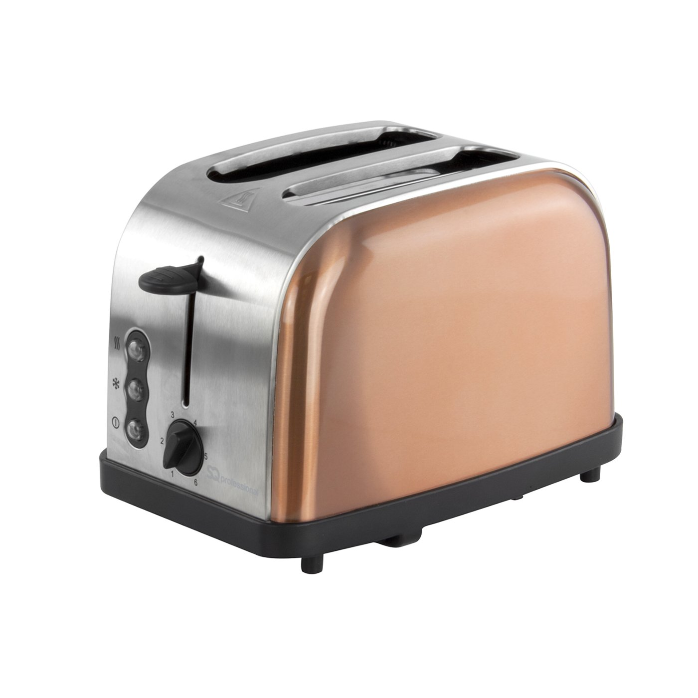 Stainless Steel Copper Colour Electric Kettle /& Toaster Set