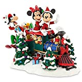 Disney Santa Mickey Mouse and Friends on Train Figure Collectible Sculpture