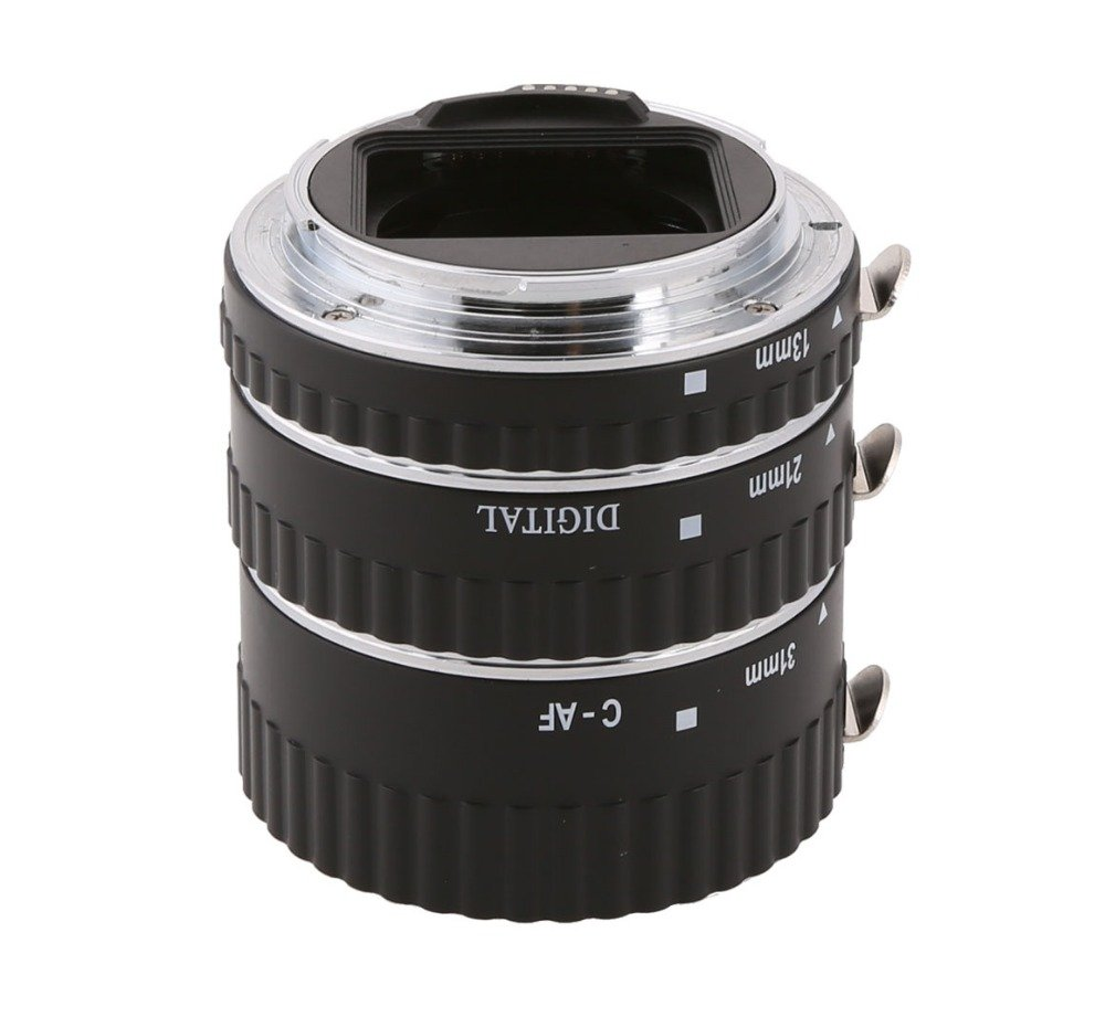 MEIKE MK-C-AF1-A Metal Auto Focus Macro Extension Tube Set for Canon DSLR Camera 13MM 21MM 31MM 1D 6D 7D 50D 70D 550D 700D 5D Mark II 5D Mark III etc