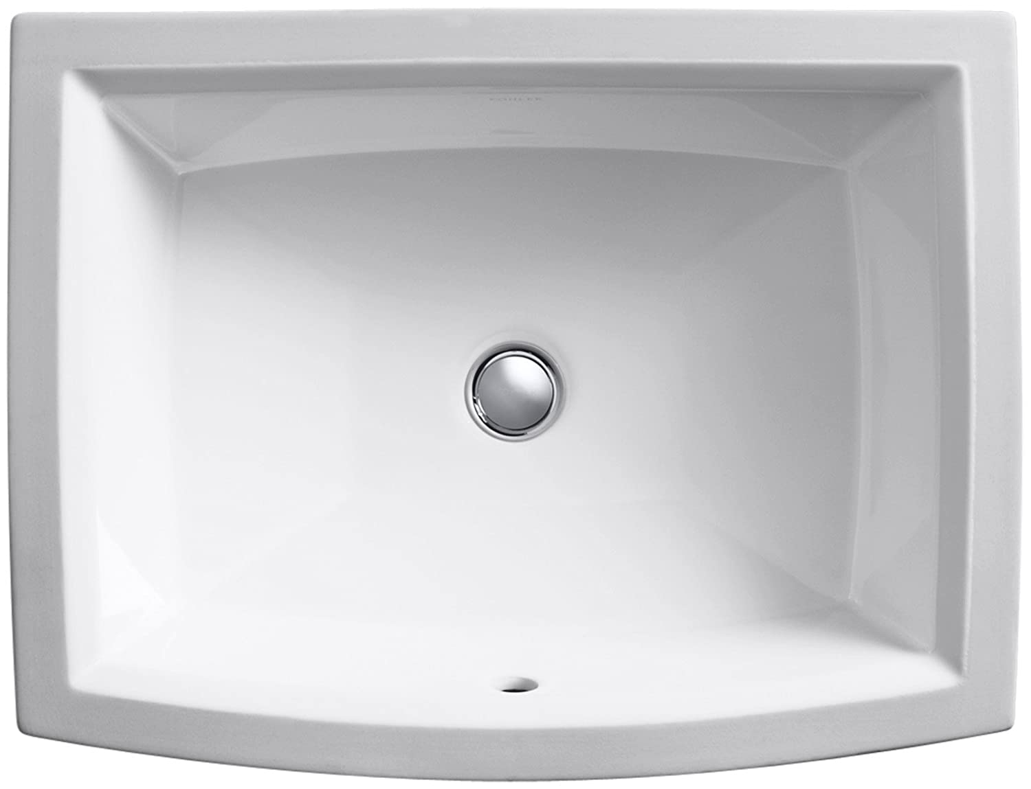 KOHLER K-2355-0 Archer Undercounter Bathroom Sink, White ...