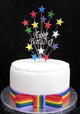 Decoration De Gateau D Anniversaire Texte Happy Birthday A Strass