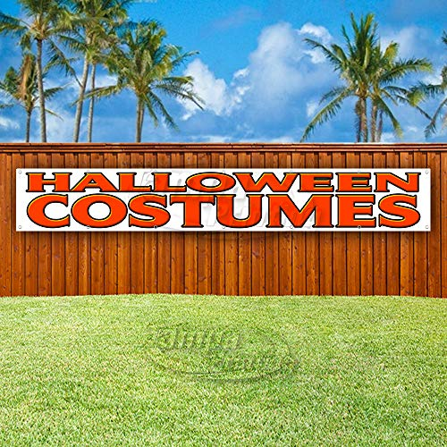 Halloween Costumes Extra Large 13 oz Heavy Duty Vinyl Banner Sign with Metal Grommets, New, Store, Advertising, Flag, (Many Sizes Available) ()