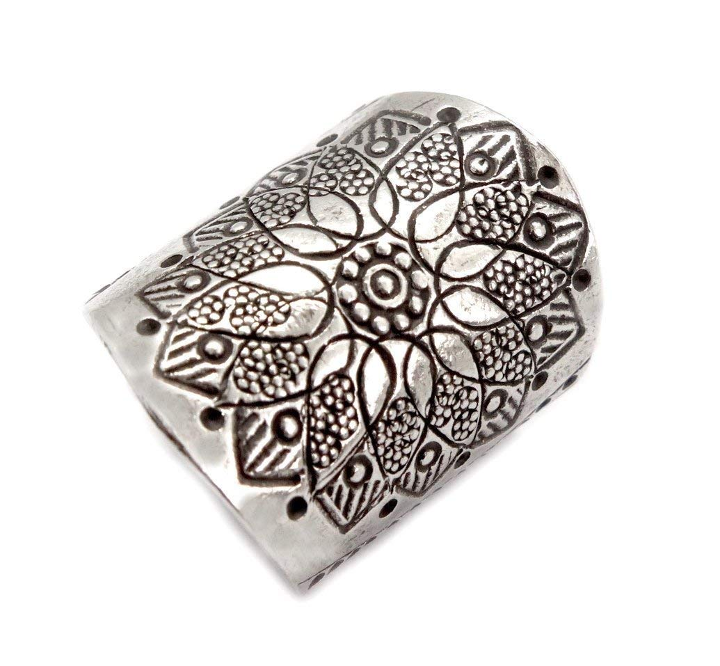 Amazon.com: Sterling Silver Mandala Flower Boho Statement ...