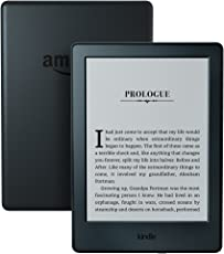"Kindle E-reader - Black, 6"" Glare-Free Touchscreen Display, Wi-Fi, Built-In Audible -  Includes Special Offers"