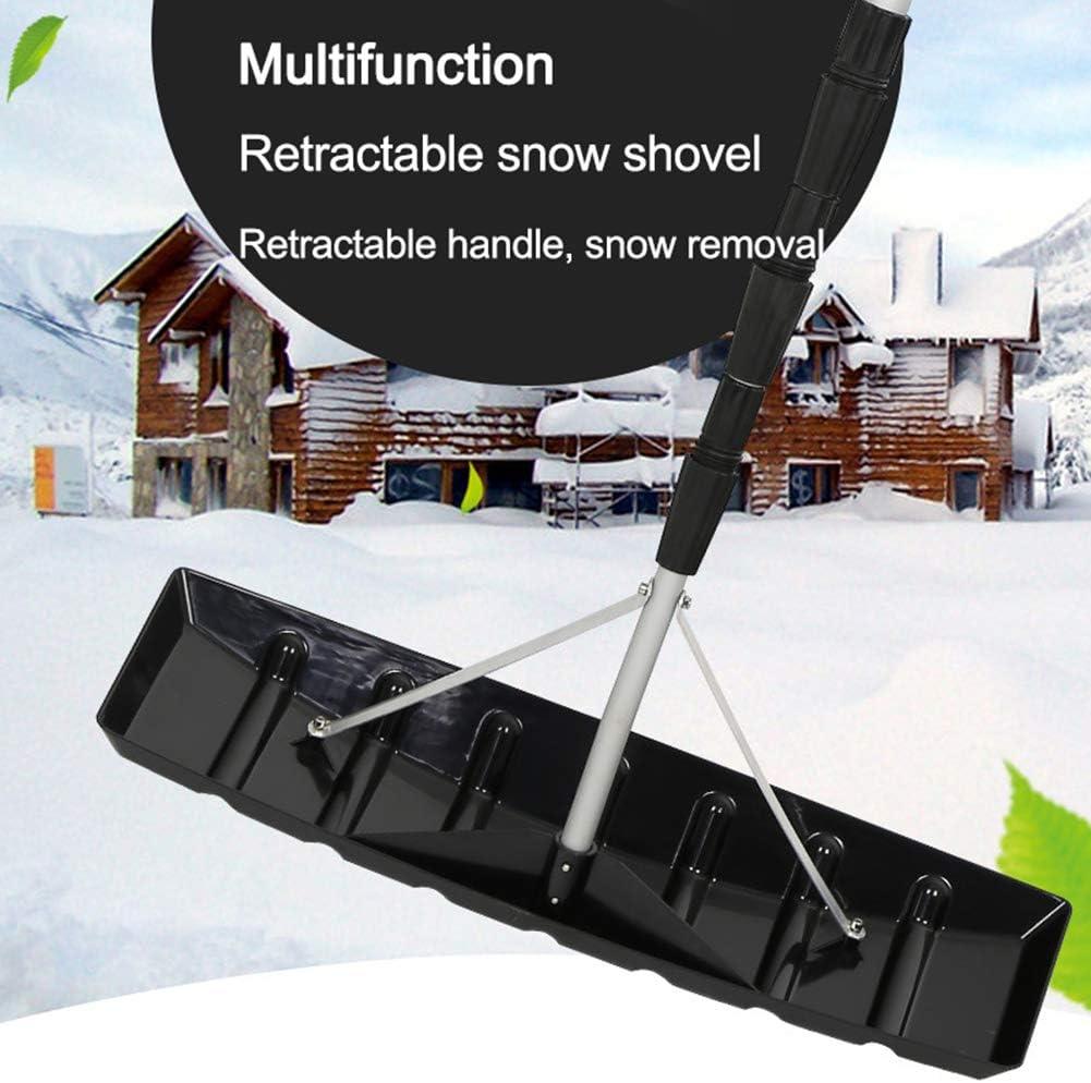 GTTBS-ski Roof Snow Removal System Dachschwader Schneer/äumungs-Werkzeugmaschinen mit verstellbarem Teleskopgriff 24-Zoll-Schaber 21 Fu/ß Aluminiumgriff Teleskop-Schneedachschwader
