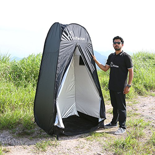 WolfWise New Style Pop Up Privacy tent Changing Room Black