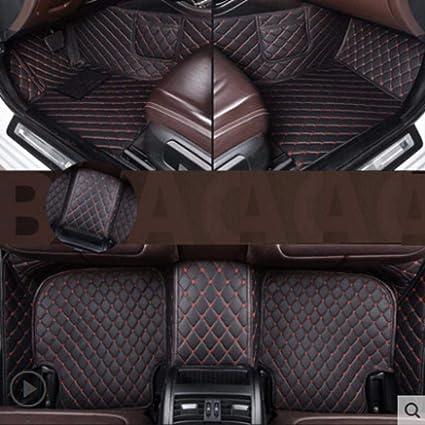 Noir avec Rouge MZLJL Voiture Pied Tapis Tapis De Sol De Voiture en Cuir pour Mercedes Benz Glc 2016 2017 2018 Pied Auto sur Mesure Tapis Couverture De Tapis Automobile