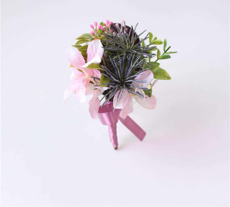 20x Artificial Orchid Wrist Corsage Wedding Silk Flower Hair Accessories White