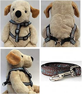 "product image for Diva-Dog 'Calligraphy Brown' Custom 5/8"" Wide Dog Step-in Harness with Plain or Engraved Buckle, Matching Leash Available - Teacup, XS/S"