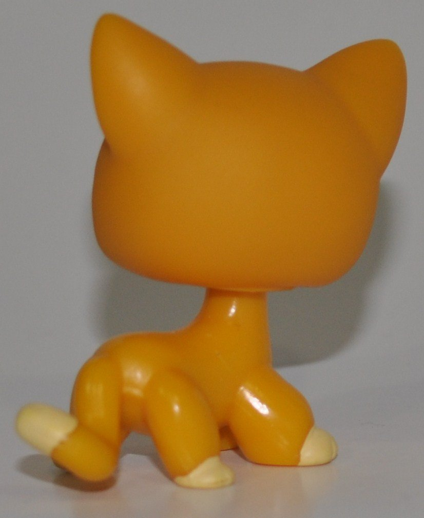 Loose Retired Shorthair Kitten #855 Collector Toy LPS Collectible Replacement Single Figure - Littlest Pet Shop OOP Out of Package /& Print Orange, Purple Eyes,