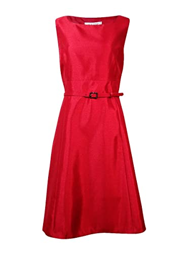 Kasper Women's Shantung Belted A-line Dress