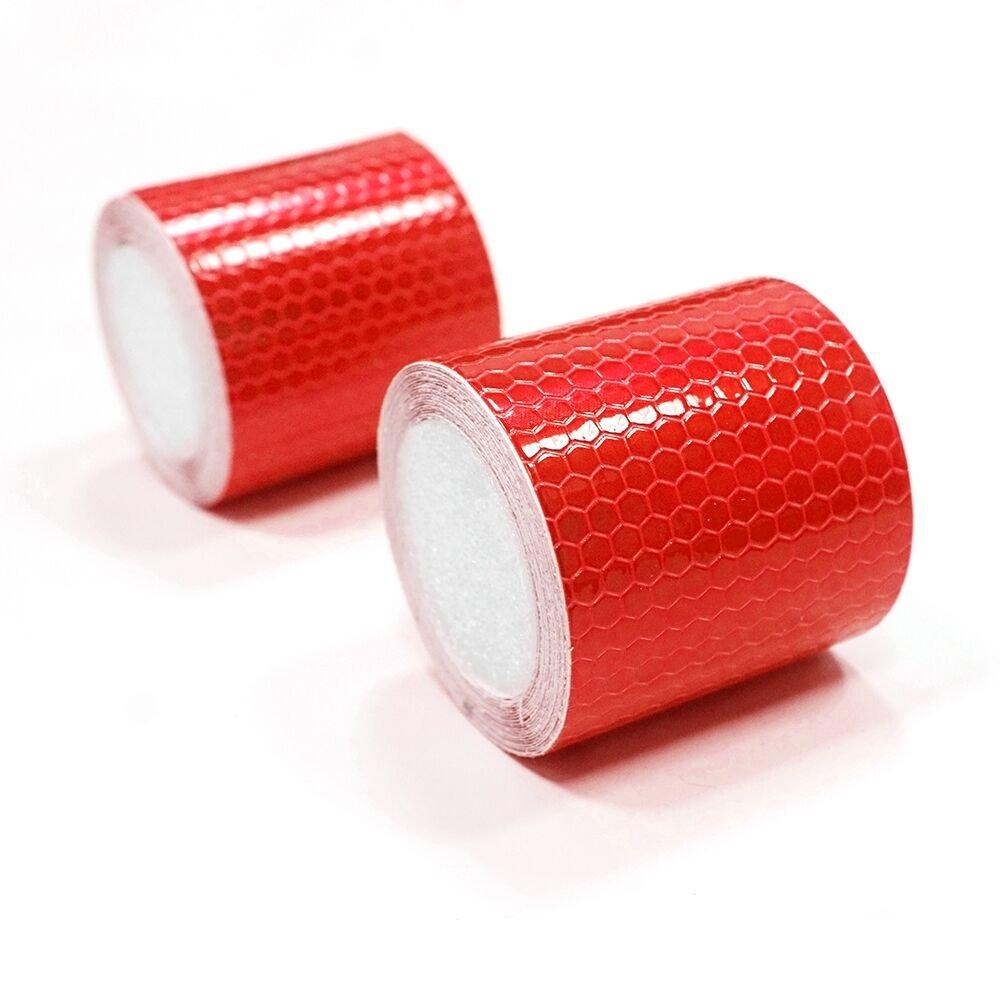 Tuqiang/® Cinta reflectante autoadhesiva de advertencia de seguridad uniforme de noche reflectante pel/ícula adhesiva 2 rollos 5 cm /× 3 m rojo