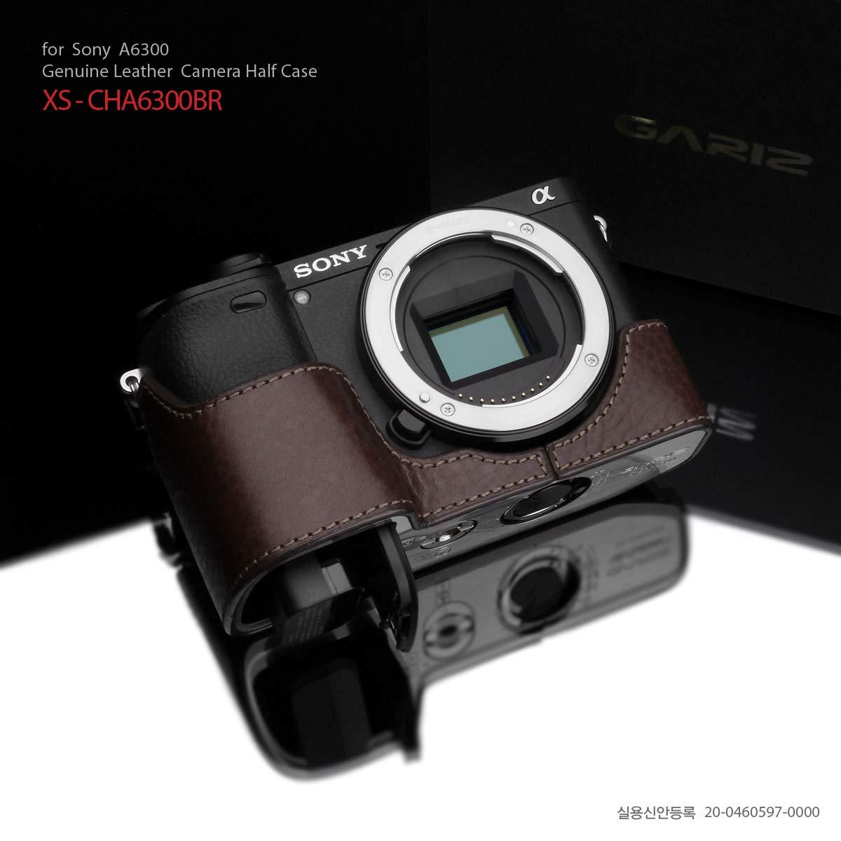 Gariz XS-CHA6300/A6400BR 本革ハーフケース Sony A6400 / A6300用 ブラウン B07QRPQYVZ