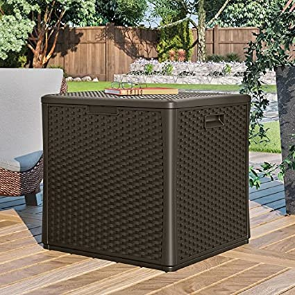 Cube 60 Gallon Plastic Deck Box
