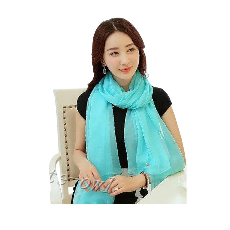 Women Fashion blue Long Soft Chiffon Scarf Wrap Shawl Stole Scarves Hot