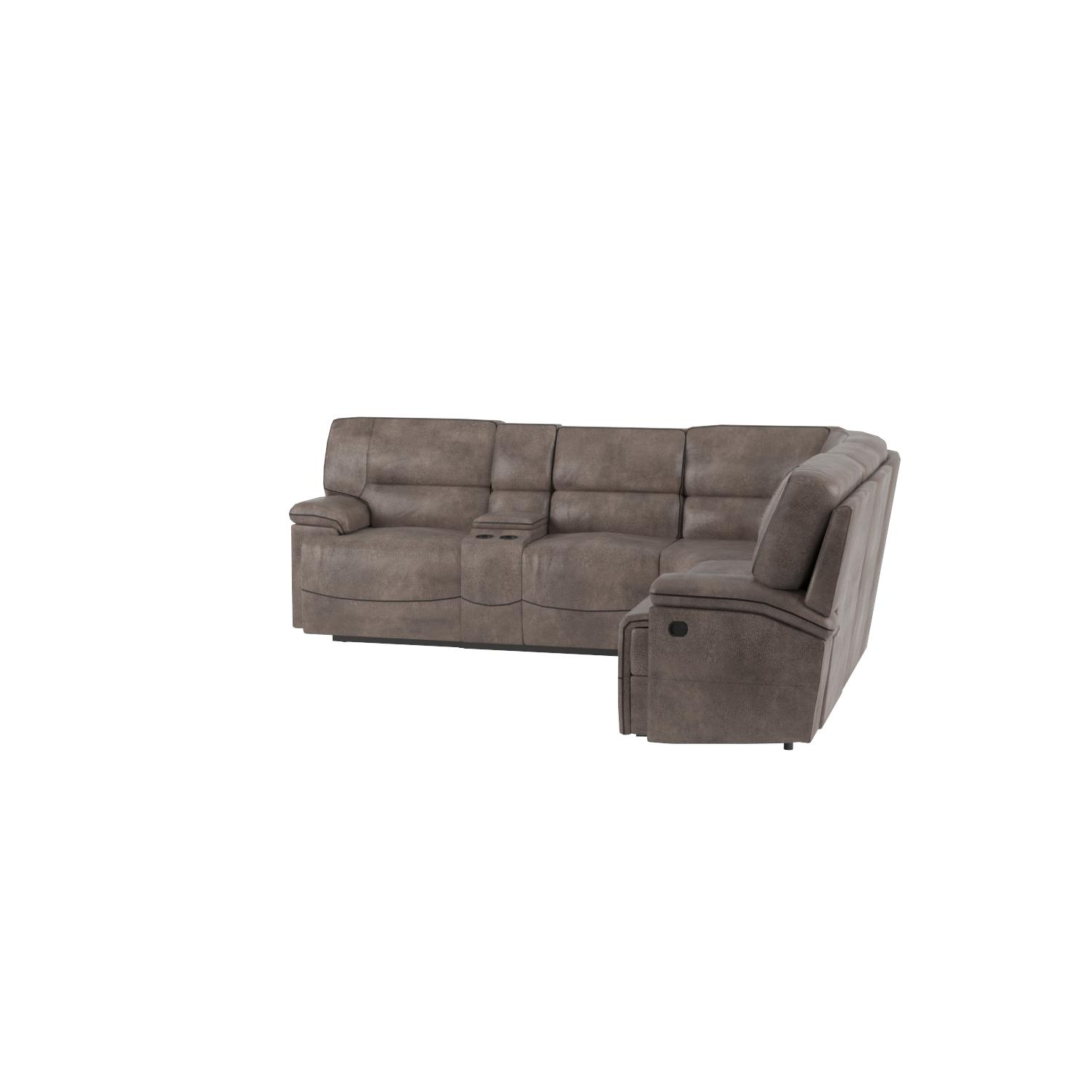 Amazon Donovan 6 Piece Sectional with 3 Recliners Kitchen