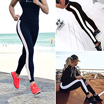 YYHGLH Mujeres Running Yoga Fitness Leggings Gym Pantalones ...