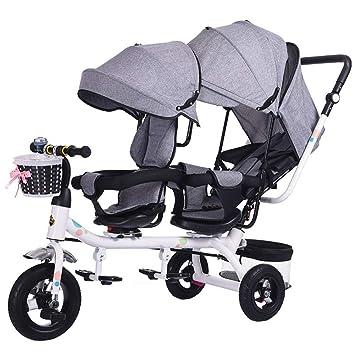 GWM Sillones Mellizos Triciclos Niños Dobles Bicicletas Gemelos Carrito de bebé 1-7 años Coche de bebé: Amazon.es: Bebé