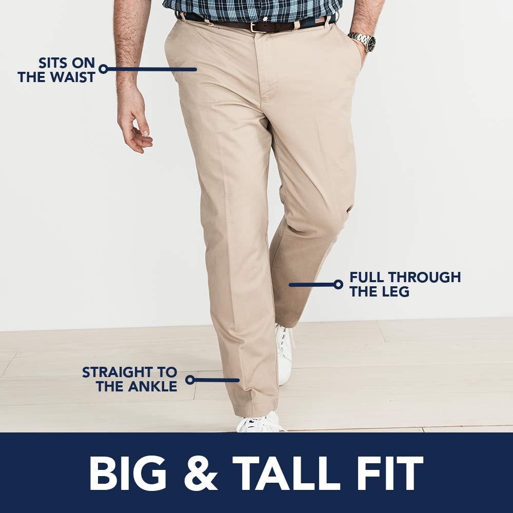 48W X 30L IZOD Mens Big and Tall Performance Stretch Pleated Pant Smoked Pearl