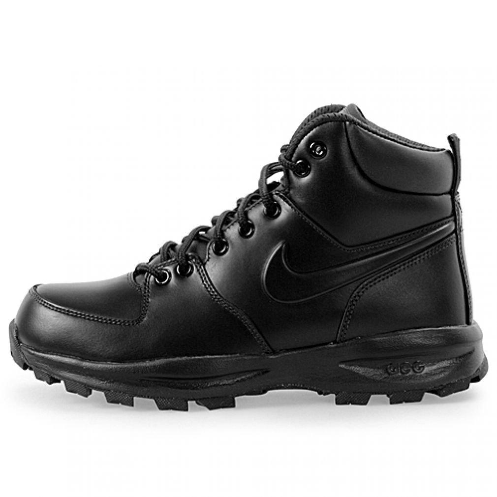 Nike Men's Manoa Leather Black/Black/Black Boot 10.5 Men US