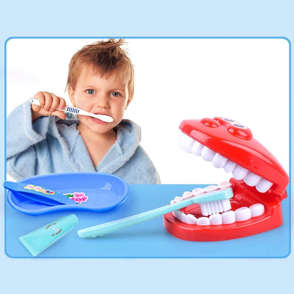 Perfekt F/ür Kinder Intellectual Toy Geschenkset Blau LOVEYue 20Pcs Kids Simulation Zahnarzt Doctor Cosplay Spielzubeh/ör Pretend Play Toy Kit