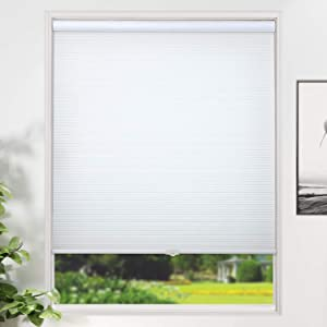 SUNFREE Window Shades Cellular Shades Cordless Honeycomb Blinds Light Filtering Door Window Blinds for Home and Office 34 x 36 inch White