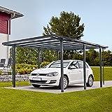 AKTION Aluminium Carport LUXOR RAL 9016 weiß Komplettbausatz inkl ...