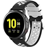 Fit for Samsung Galaxy Watch Active 2 40mm/ 44mm Watch Bands, Garmin Vivoactive 3 Music Bands, 20mm Quick Release Silicone Band Straps Wristbands for Galaxy Watch 42mm Women Men White