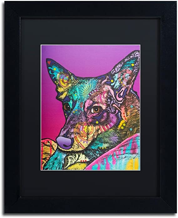 BASENJI reading in Bed picture dog art print 11x14
