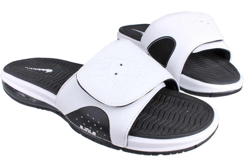 554c3c4cf Cheap New Style Nike Air Lebron Slides Flops White Black 487332 ...