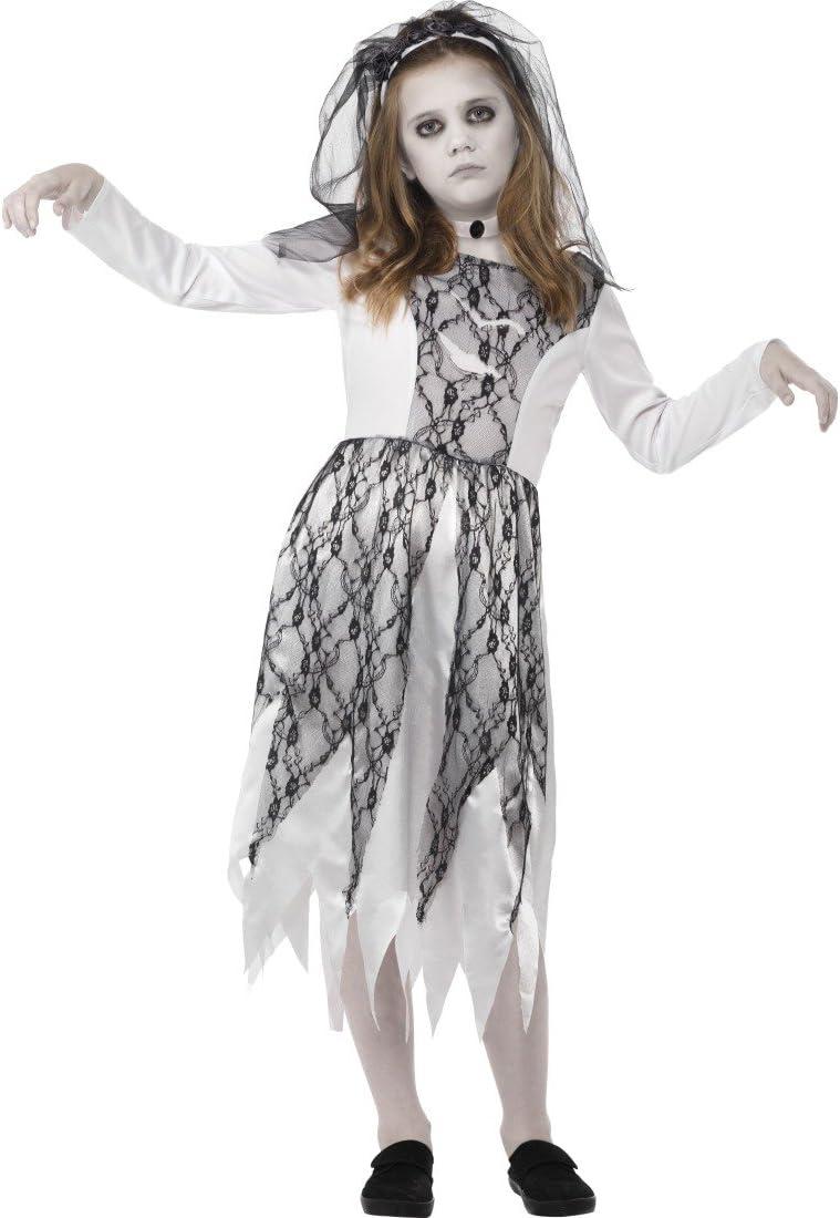 Halloween Kostüm Braut Geisterbraut Kinderkostüm Zombiebraut Mädchen Gespenst