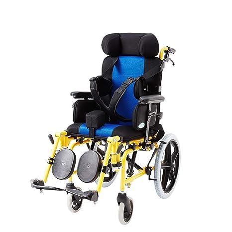 MJK Silla de ruedas plegable y liviana para niños ...