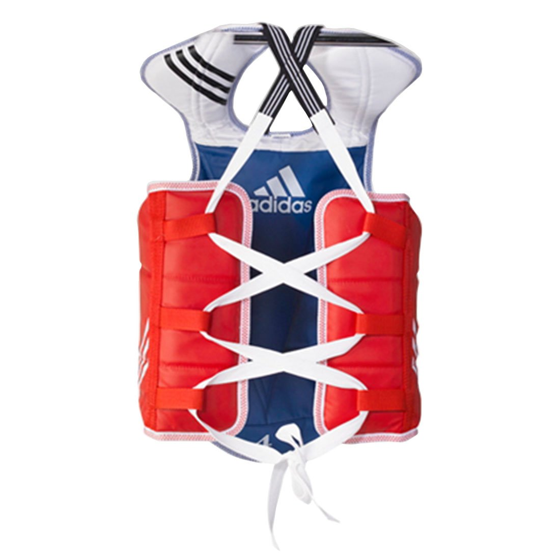 (4.L(170cm-190cm or 1.5m-1.8m)) - Adidas Taekwondo Chest Guard Reversible Hogu Body Protector Chest Protector WTF Approved XS to XL B00WCJSKFY