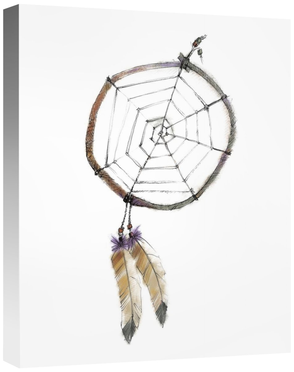 Global GalleryAvery Tillmon Indian Dreamcatcher Giclee Stretched Canvas Artwork 16 x 20