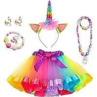 Yansion Faldas Tutu Tul para Niñas,Arco Iris Tul Capas de Faldas Ballet Danza Faldas Tutu Vestido Ropa para Niñas Regalo…