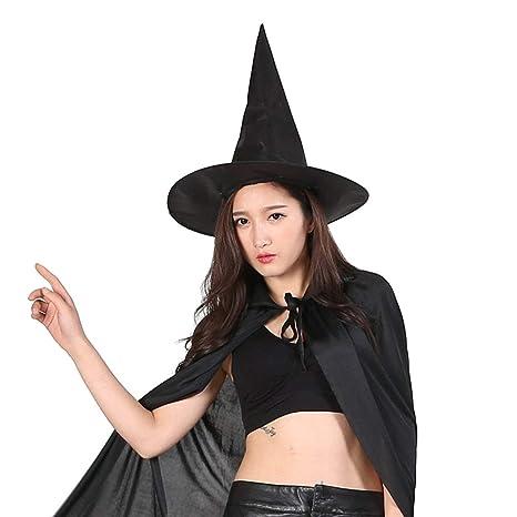 7a38820ef41 MXECO Sombrero de Bruja mágica de Tela Oxford de Halloween Sombrero ...