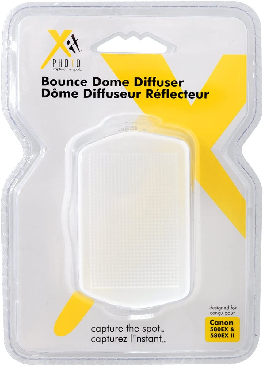 Xit XTHD580 Bounce Hard Dome Diffuser for Canon 580EX and 580 EX II White